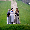 "Young ladies having a morning stroll. The 2006 ""Soldiers Through the Ages"" event at Old Fort Niagara."